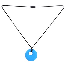 Fashion High Quality Silicone Teething Nursing Breastfeeding Necklace Soft Bead Baby chew jewelry 4 Colors(China (Mainland))
