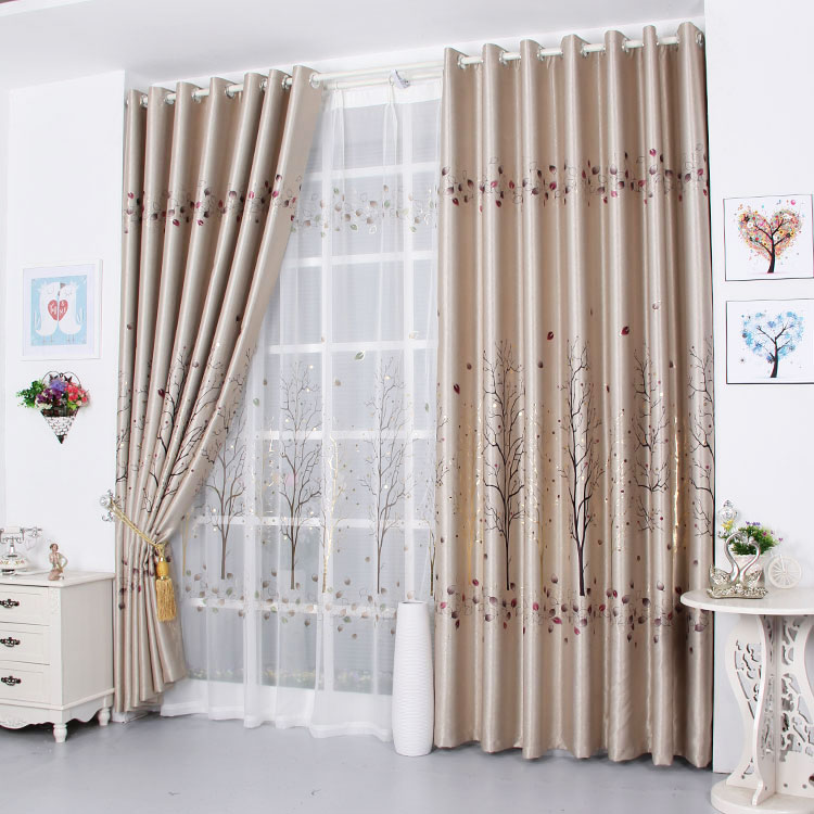 Minimalist Outdoor Contemporary Curtains Ai Shang Character Blackout Curtains Gilt Finished Modern Minimalist Living R