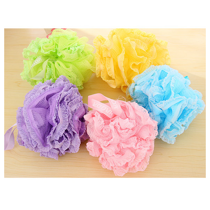 Flower Bath Ball Bath Tubs Cool Ball Bath Towel Scrubber Body Cleaning Mesh Shower Wash Sponge For Body For Bathroom Accessories(China (Mainland))