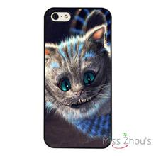 Cheshire Cat Alice In Wonderland back skins mobile cellphone cases for iphone 4/4s 5/5s 5c SE 6/6s plus ipod touch 4/5/6