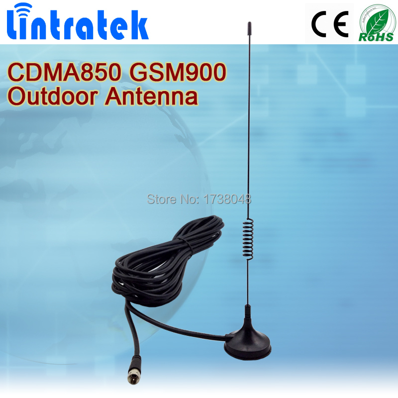 2G CDMA 850MHz / GSM 900Mhz 4dBi cellphone antena mobile phone signal outdoor sucker antenna with 10 meters cable(China (Mainland))