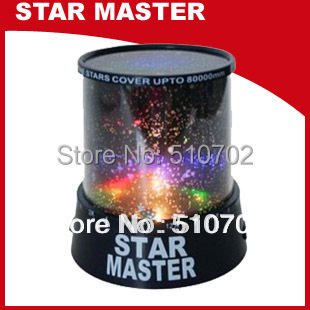 Latest amazing flashing Colorful Sky Star Master Night Light Lovely Sky Starry Star Projector Novelty Gifts Free Shipping