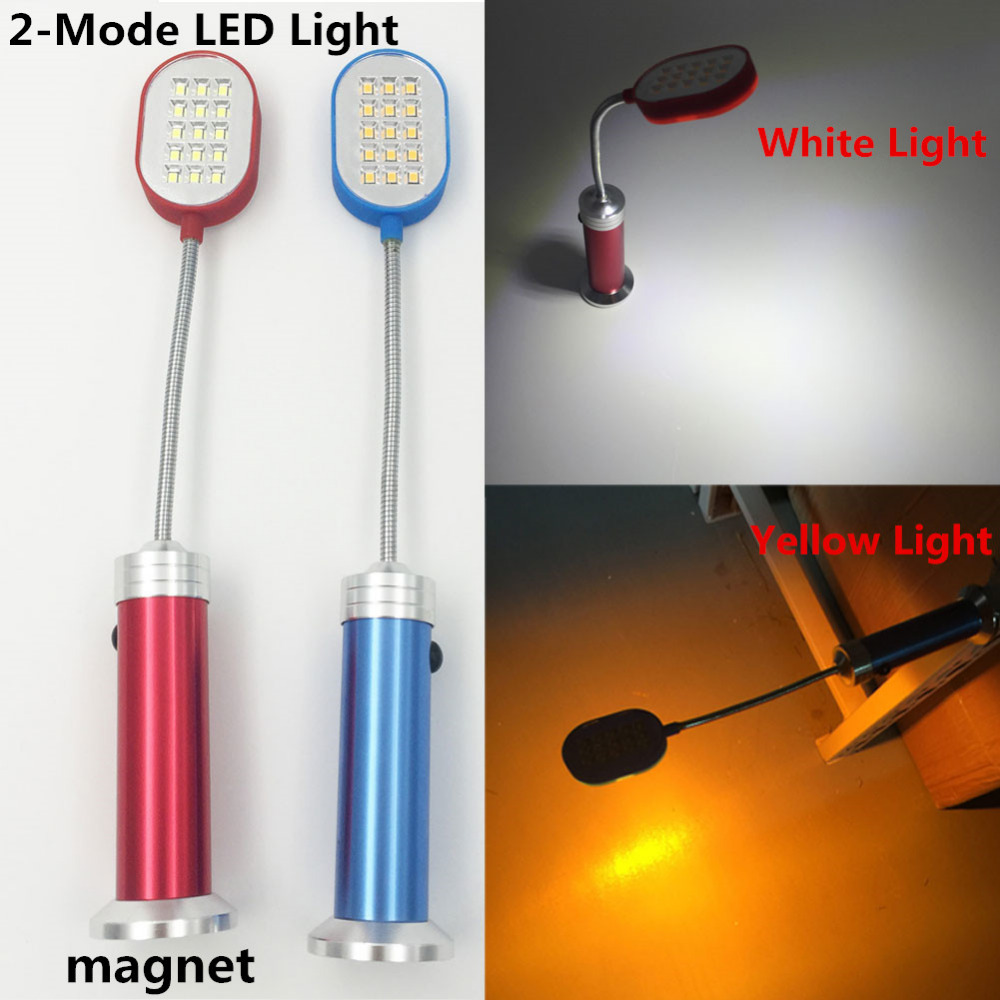Blue Or Red Led Light 160 Lumen Flexible Aluminum Flashlight Lamp With Magnet Torch Perfect Companion Light New Arrive(China (Mainland))
