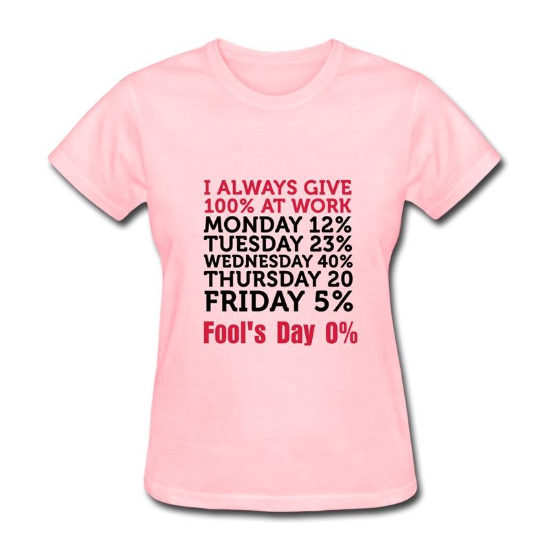 Regular Woman Tshirt 100 Percent At Work Swag Pics T for Lady(China (Mainland))
