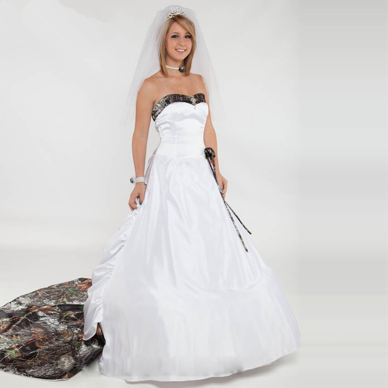 White Wedding Dresses With Camo : White camo wedding dresses buy wholesale dress