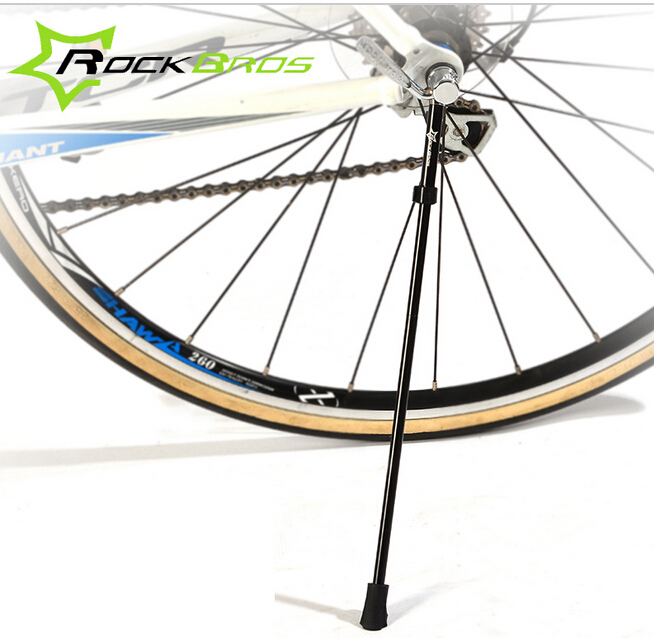 """ROCKBROS 26""""/29"""" Wheel Bicycle Kickstand Quick Release Stainless Steel/Carbon Fibre Bike Kick Stand Portable Cycling Side Holder(China (Mainland))"""