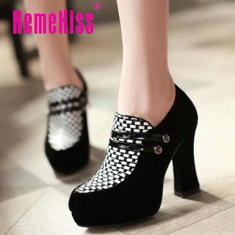 women high heel shoes sexy dress ladies platform spring fashion heeled footwear brand pumps heels shoes size 34-39 P16522<br><br>Aliexpress