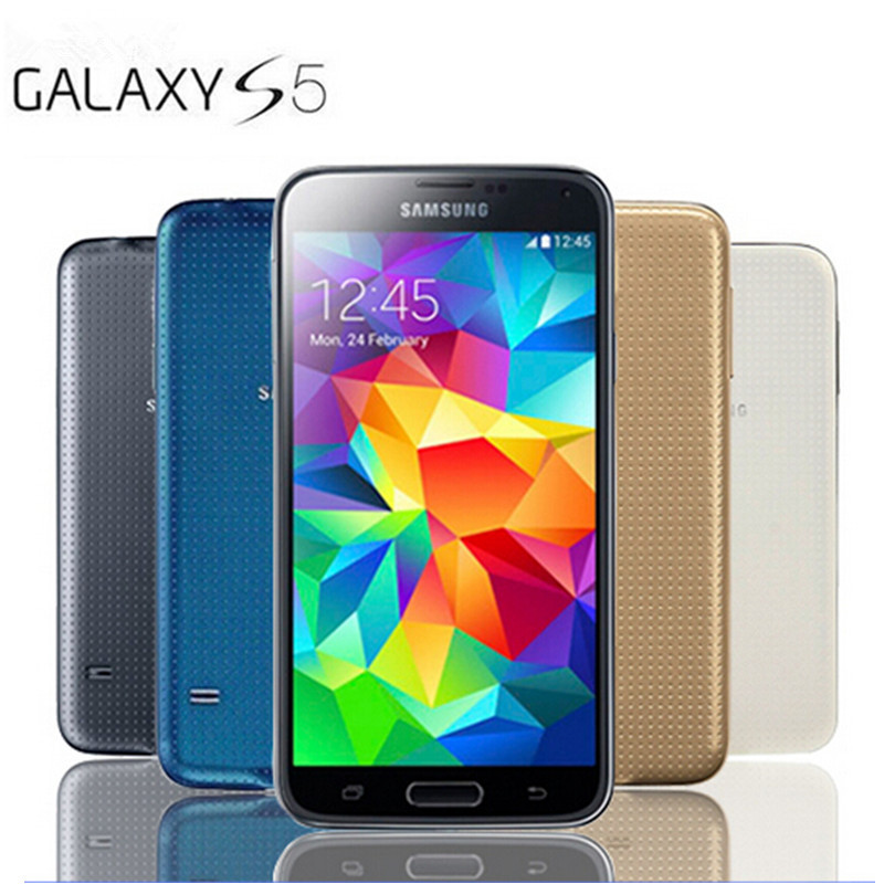 S5 Original Unlocked Samsung Galaxy S5 i9600 G900F G900A G900 Quad-core 3G&4G 16MP GPS WIFI Mobile Phone Refurbished(China (Mainland))