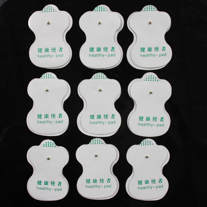 freeshipping 50pcs/lot good quality white Electrode Pads for Tens Acupuncture,Digital Therapy Machine Massager(China (Mainland))