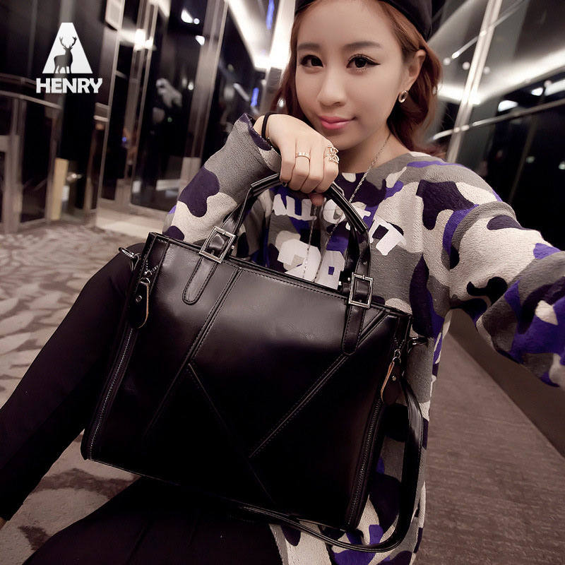 2016 Hot Sale Single New Style Women Handbag Pu Leather Messenger Bag/ Splice Grafting Ladies Handbags Famous Designer Brands(China (Mainland))