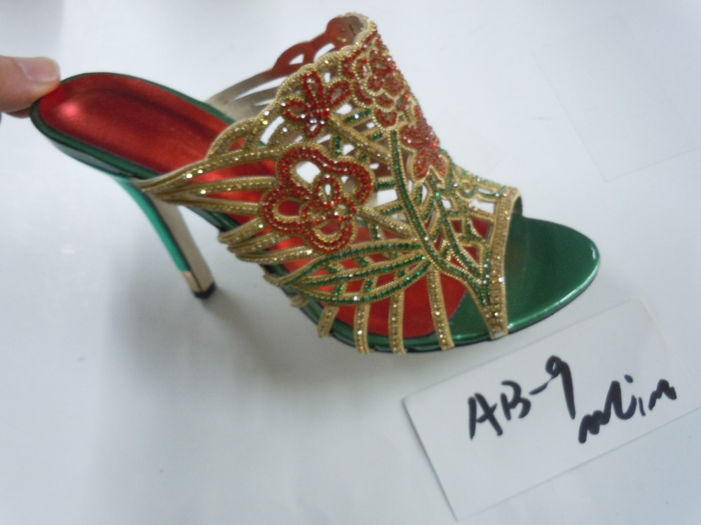 customized products 15 days,summer fashion new woman high heels,women sandals, crystal casual green shoes, brand shoes - suiwen liu's store