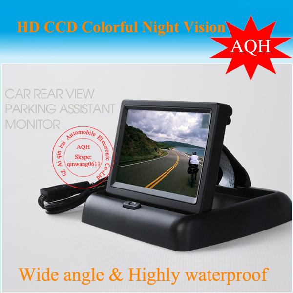 Free Shipping Car Monitor 4.3 inch TFT LCD screen / Monitor / DVD display / truck / school bus / coach for rear view camera(China (Mainland))