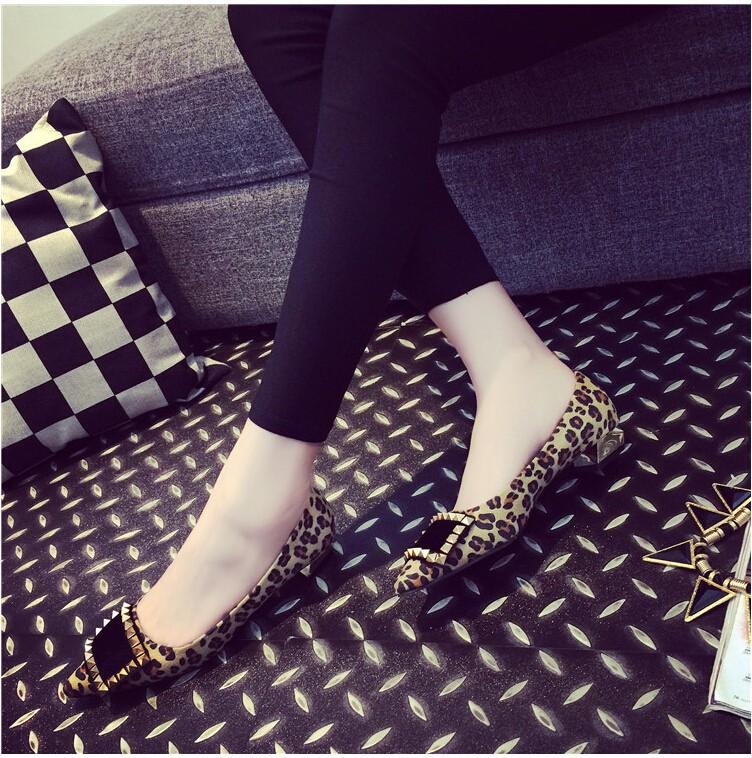2016 новых мужчин старинные леопарда отметил на плоской подошве женщин марка дизайнер удобная обувь Большой размер 35 - 41