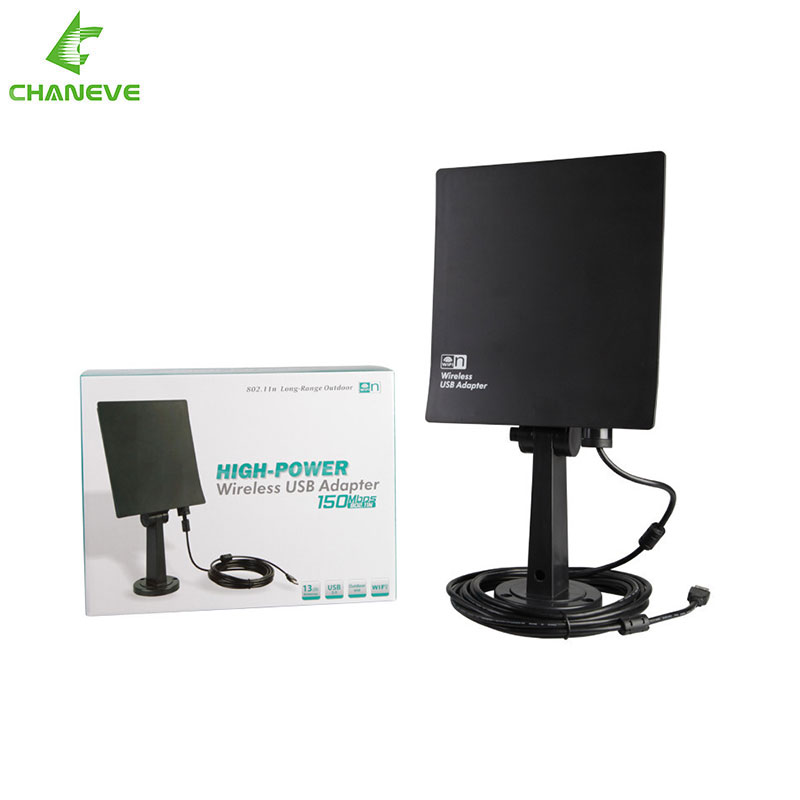 High Power CE-NT900 20DBI USB Wireless Wifi Adaptor long range outdoor wifi antenna 150Mbps with 5m cable Real Free Shipping(China (Mainland))