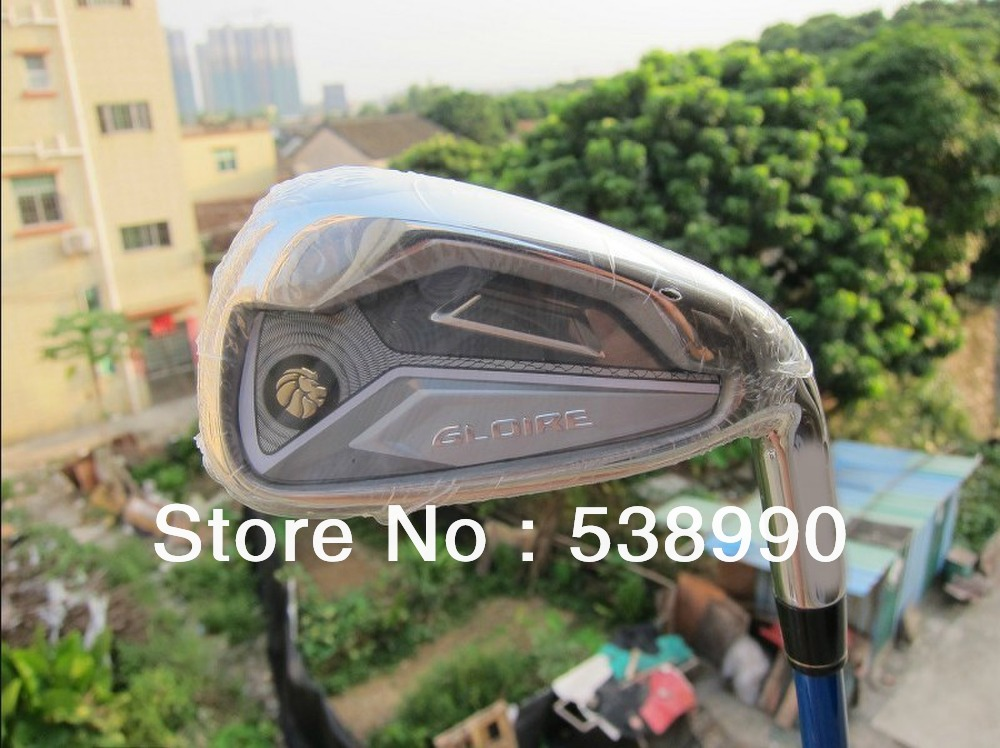 Gloire Golf Iron Set Graphite or Steel Shaft R/S Flex 4-9PAS Headcover Included Free Shipping(China (Mainland))