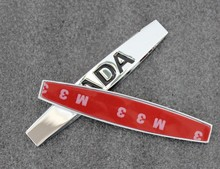 Auto fender stickers car side badge emblem for LADA car accessories 2pcs lot