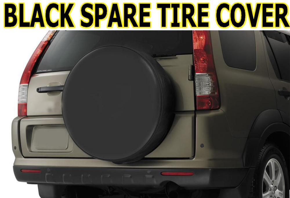 """Accessories 15"""" FIT FOR TOYOTA JEEP SUZUKI FORD SPARE TIRE WHEEL TYRE COVER BLACK PU LEATHER BLK15(China (Mainland))"""