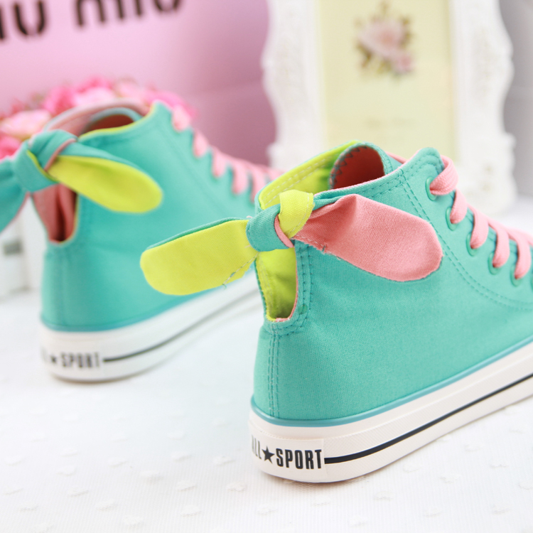 Canvas shoes female shoes cotton-made high-top shoes casual shoes skateboarding shoes rabbit ears shoes