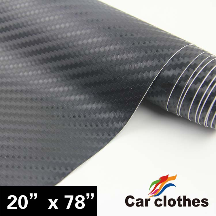 Hot Selling 50*200cm Auto Vinyl Sticker 3D carbon fiber vinyl film wrap with free shipping(China (Mainland))