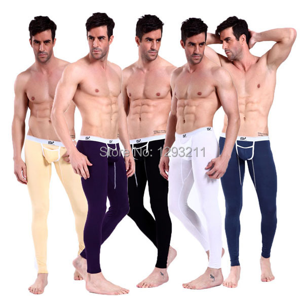 Super Sexy Modal Low Rise Underwear Men's Long johns Thermal Pants Trousers SML Retail(China (Mainland))