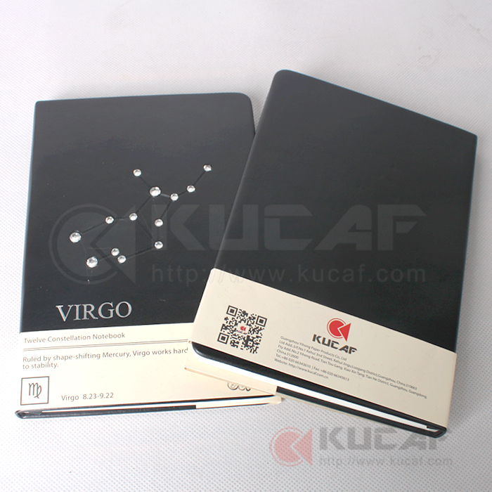 wholesale 12 constellaiton leather cover notebook cheap school notebooks(China (Mainland))