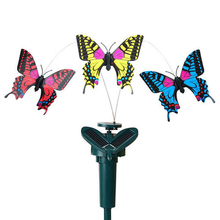 Vibration Solar Power Garden Ornaments Dancing Flying Fluttering Butterflies Garden Decoration(China (Mainland))