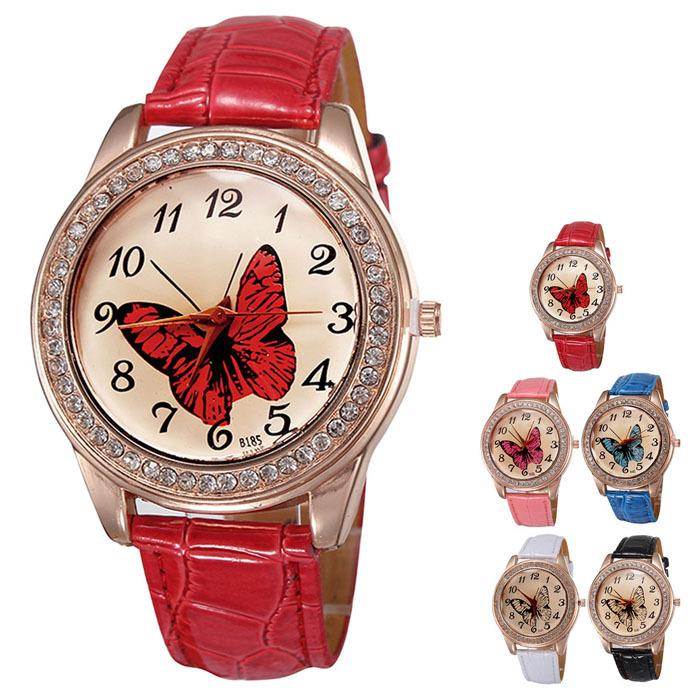 JECKSION watches luxury watch women 2016 Fashion Charm Trend Women Analog Butterfly Quartz Leather Band Wrist Watch<br><br>Aliexpress