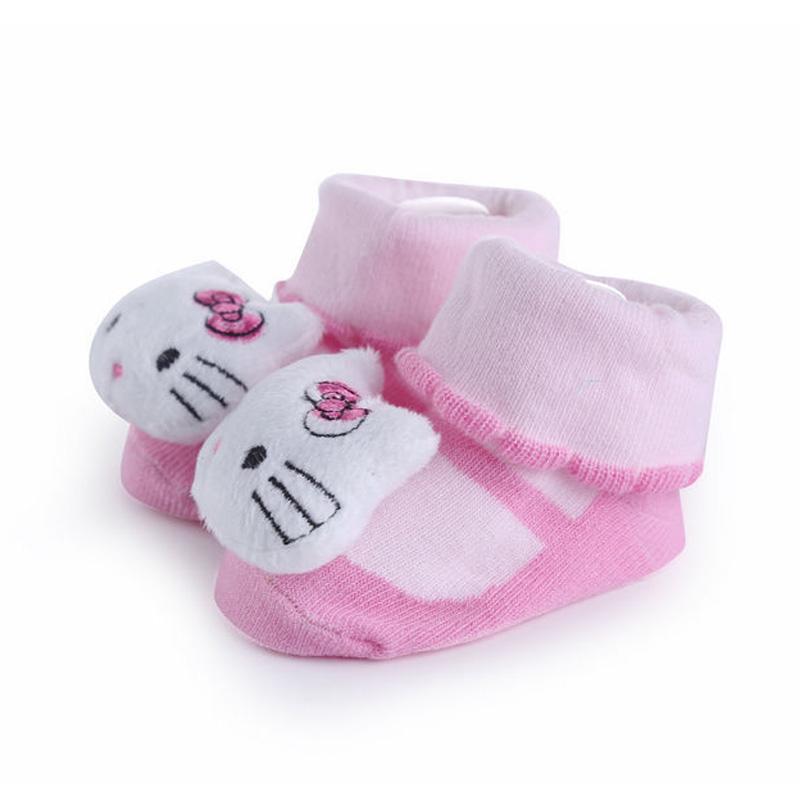 0-10M Baby Toy Soft Cute Animal Doll Cotton Socks Toy Antislipping Socks(China (Mainland))