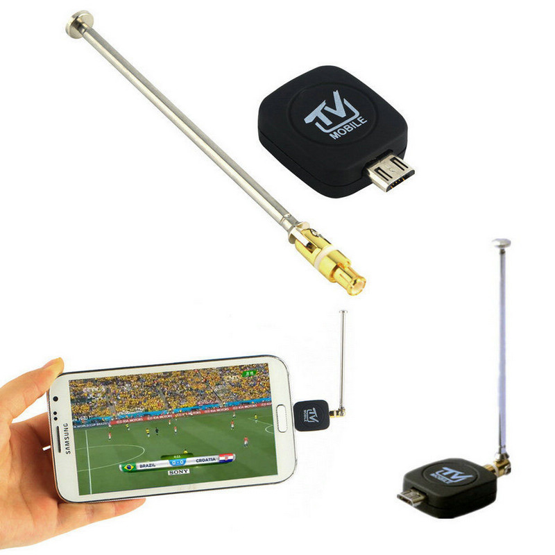 1Pc USB DVB-T TV Tuner Android USB DVB-T Tuner New Digital Mobile TV Tuner Receiver+Antenna for Android 4.0-6.0(China (Mainland))
