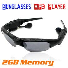 2GB Sport Sun Glasses Sunglasses Headset Headphone Earphone Mp3 Player(China (Mainland))