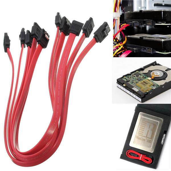 5Pcs 40cm ATA SATA to SATA Serial RAID Data HDD Hard Drive Disk Straight Signal Cables(China (Mainland))