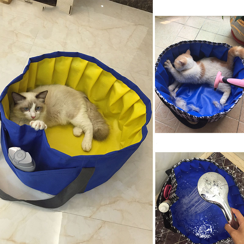 Foldable PVC Pet Swimming Pool Bathing Tub Use for indoor and outdoor Water-Resistant pet pool for cats and small dogs(China (Mainland))