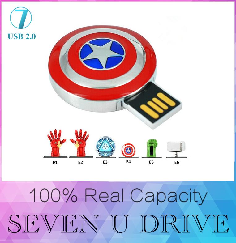 The Avengers usb flash drive 512GB iron man pen drive 8GB 16GB Captain America usb stick Hulk Thor pendrive 32GB U disk 128GB(China (Mainland))