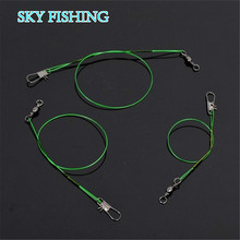 Buy 20pcs/lot Green Stainless Steel Fishing Line Fishing Trace Lures Braid Nylon fishing line Leader Steel Wire Spinner 15/20/24cm for $2.38 in AliExpress store