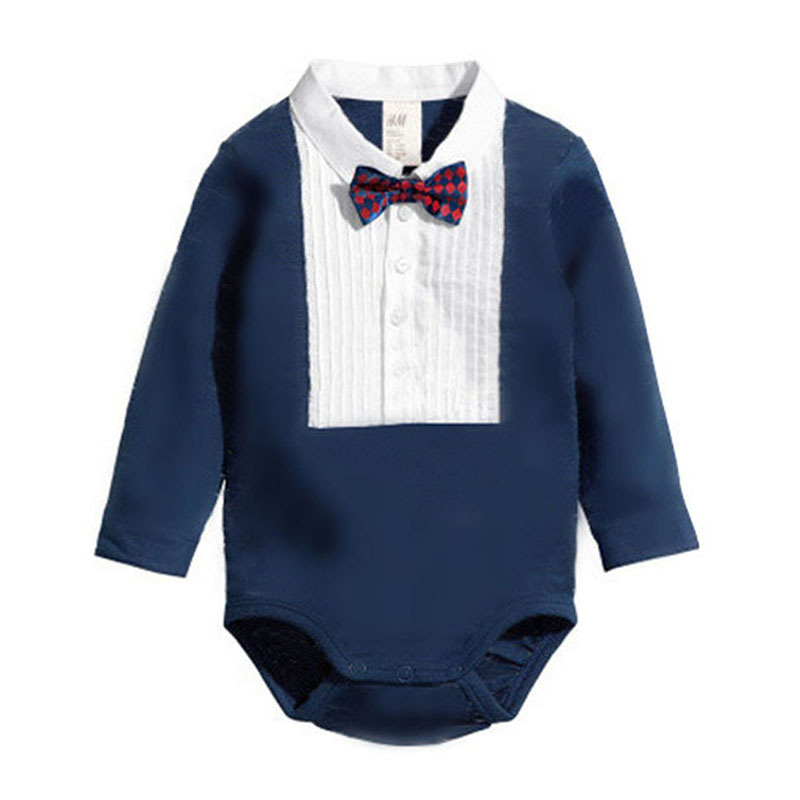 Infant Newborn Baby Boy Climb Clothes Triangle Romper Bowknot Jumpsuit 0-36 Month<br><br>Aliexpress