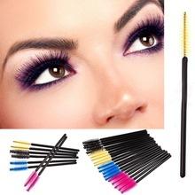 100PCS Eyelash Eye Lash Brush Mascara Wands Applicator Disposable Extension Tool