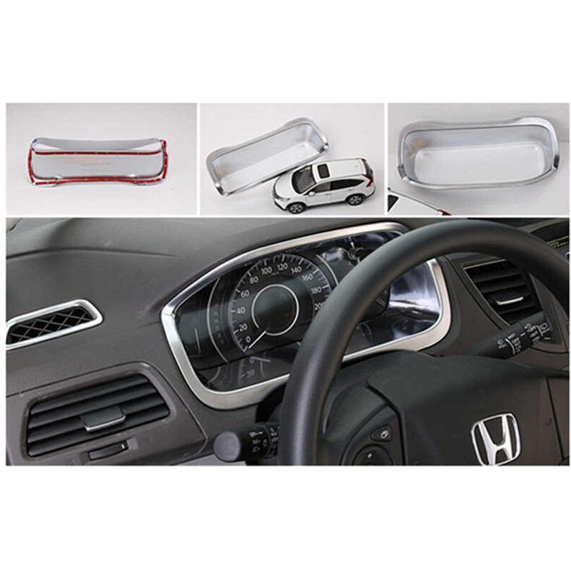 Car auto accessories instrument desk cover trim frame decoration trim for honda crv cr v for 2014 honda cr v exterior accessories