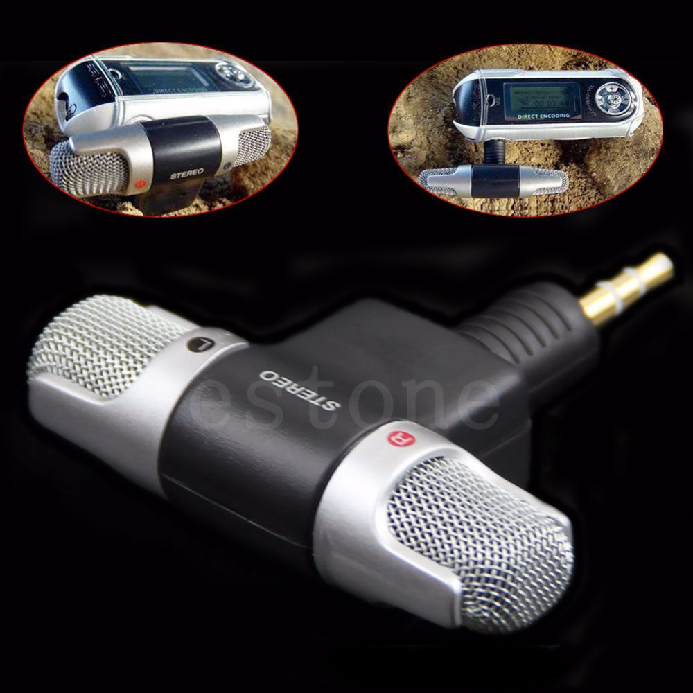 Fashionable Portable Mini Voice Mic Microphone For Recorder PC Laptop MD VOIP
