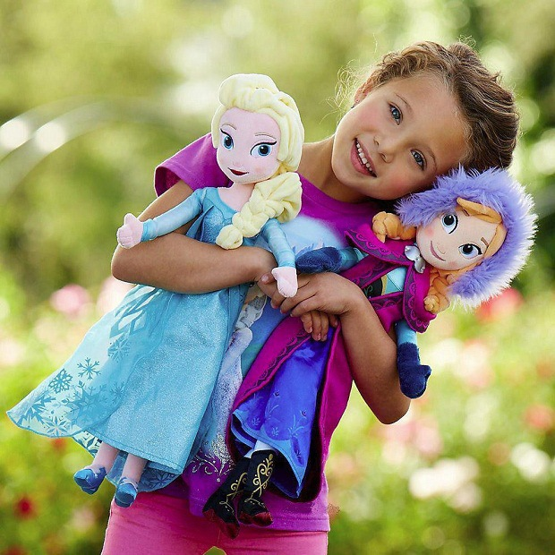 50CM IN Stock Free Shipping NEW Hotsale Original Snow Queen  Anna Elsa Plush Doll Toys Stuffed Boneca Doll Kids Toy <br><br>Aliexpress