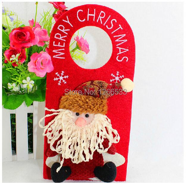 Free Shipping! Hot Selling 25*13CM 3 Style Santa Claus Snowman Deer Christmas Decorations Ornaments Hanging Doors QLX0915(China (Mainland))