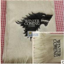 A Song of Ice and Fire Game of Thrones The House of Stark Wolf Lovers Scarves 79 Inches Large Big Warm Scarf(China (Mainland))