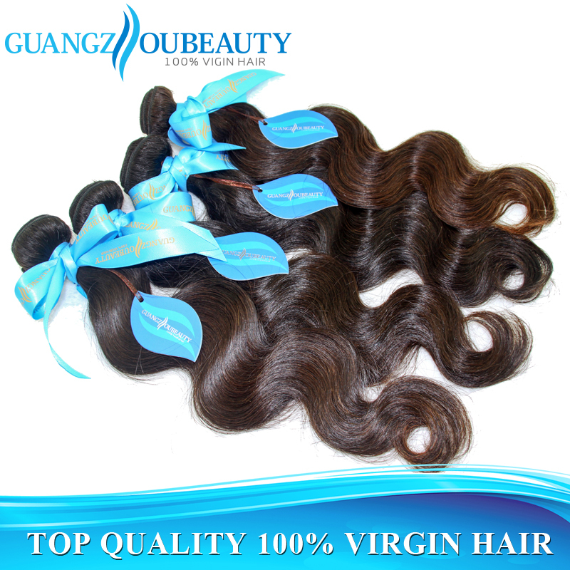 Best quality 7a raw unprocessed brazilian virgin hair body wave 3pcs lot human hair weave wavy bundles free shipping(China (Mainland))