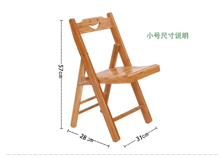 100% Eco-Friendly Bamboo Folding Portable Kids Chair Sturdy and Strong Wooden little chair(China (Mainland))