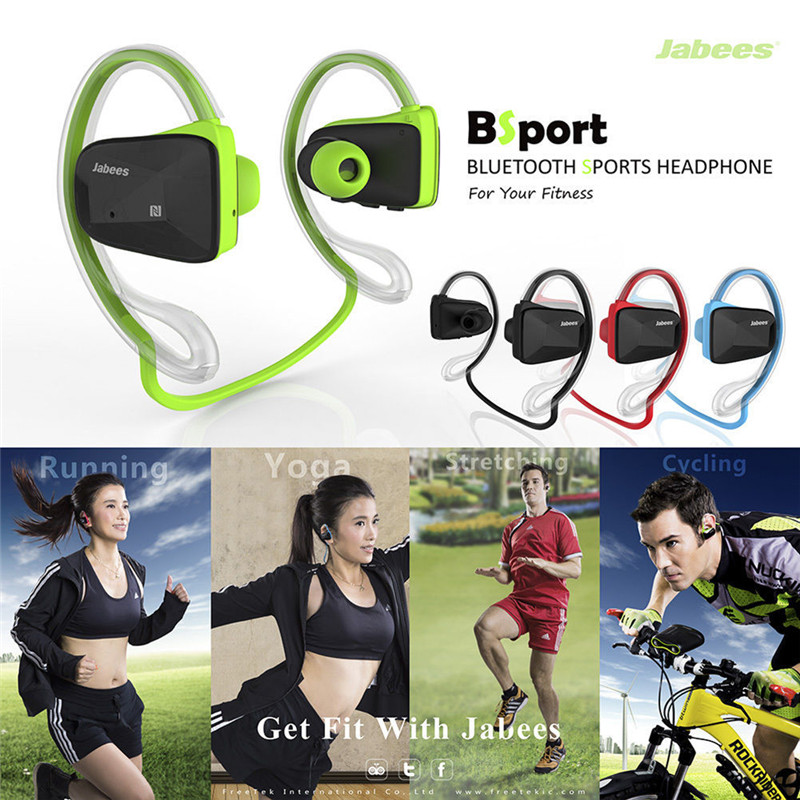 2016 Hot Fashion for Jabees Bsport Bluetooth Earphones Wireless Sports Stereo Waterproof headset for iphone 6s For samsung s6(China (Mainland))