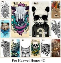 Mobilephoe чехол для Huawei honor4c честь 4с живопись чехол животных кожного покрова