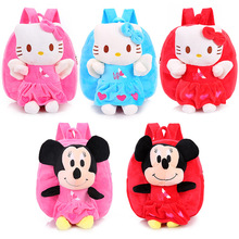 Buy New Cute Cartoon KT Mickey Kids Plush Backpack Toy Mini School Bag Children's Gifts Kindergarten Boy Girl Baby Student Bags for $12.59 in AliExpress store