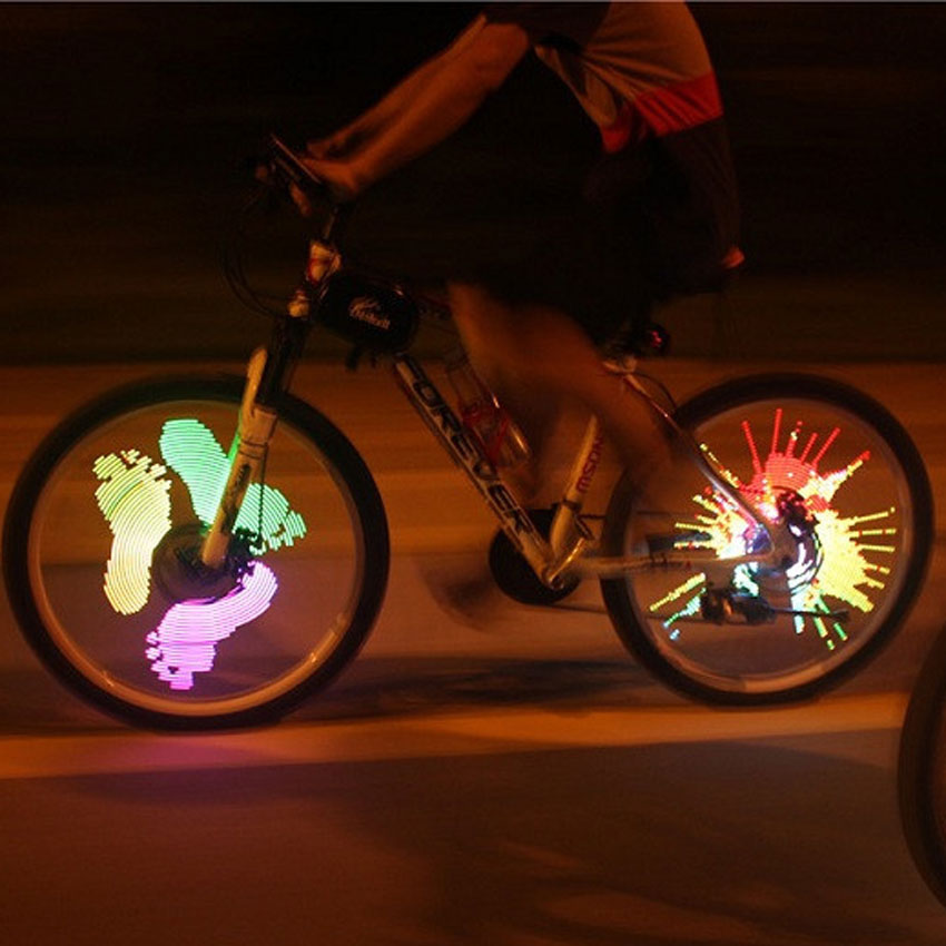 Bicycle Spokes Lights Bike Wheel Lamp Cycling Rechargeable Programmable DIY Customize Pattern LED Light Riding Accessories(China (Mainland))