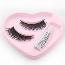 1PairNew Fashion Beauty Thick Makeup False Eyelashes Eyelash Glue Handmade Long Eye Lashes(China (Mainland))