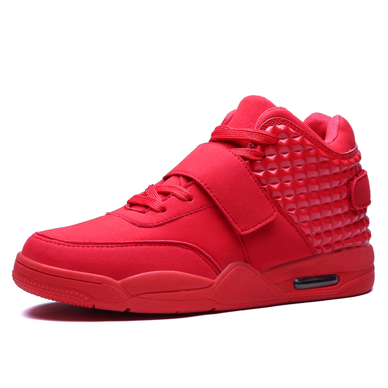 New 2015 Winter Fashion Men Shoes High Top Casual Red Suede Leather Boots Men Trainers Breathable British Style Basket Femme(China (Mainland))