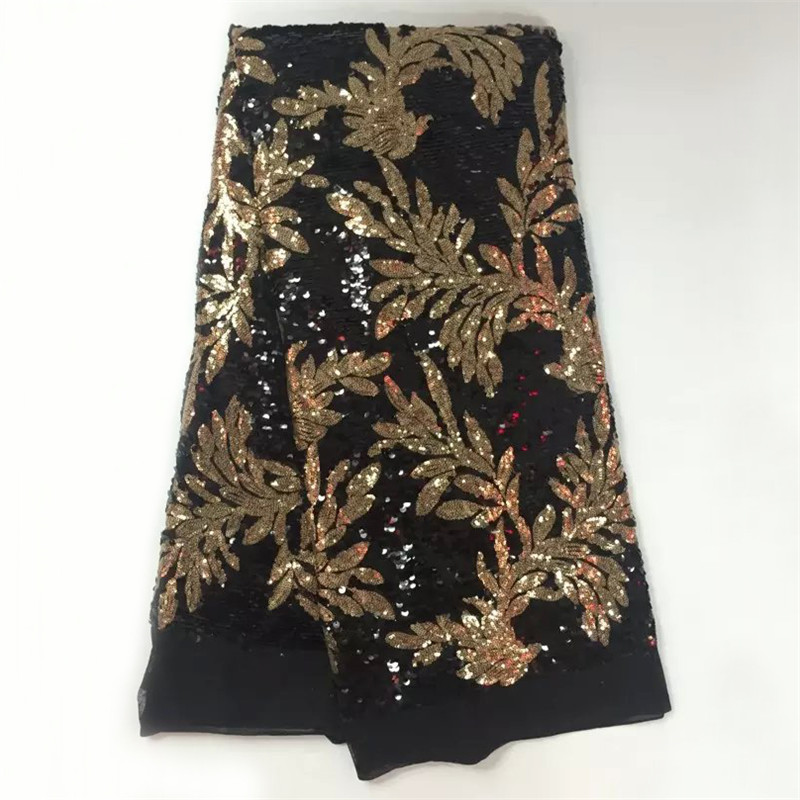 Free Shipping!High Quality French Silk Material Beautiful African Lace Fabric With Sequins for wedding dresses WS1041(China (Mainland))